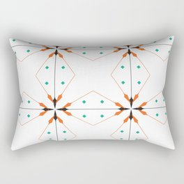SEAMLESS DAMASK Abstract Art Rectangular Pillow