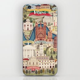 Vilnius, the capital city of Lithuania iPhone Skin