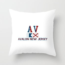 Avalon - New Jersey. Throw Pillow