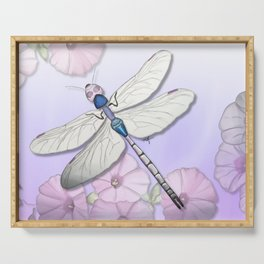 Purple Dragonflies Serving Tray