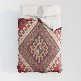 White Hooked Diamond // 19th Century Authentic Simple Colorful Aztec Accent Pattern Comforters