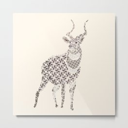 Mountain Nyala Metal Print
