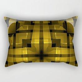 The Butterscotch Wheel Rectangular Pillow