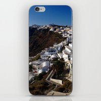 greg guillemin iPhone & iPod Skins featuring Caldera View - Greg Katz by Artlala for MSF Doctors Without Borders