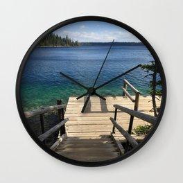 Jenny Lake Boat Dock Wall Clock