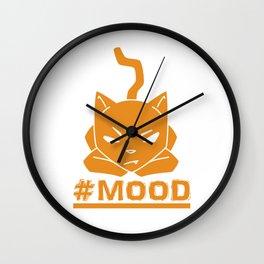 #MOOD Cat Orange Wall Clock