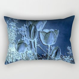 Spring Flowers Tulpis in The Night Rectangular Pillow