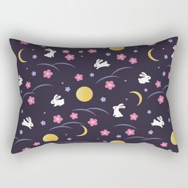 Moon Rabbits V2 Rectangular Pillow