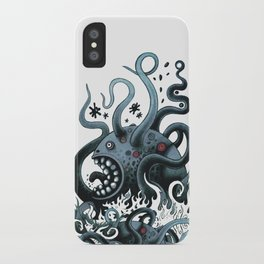 Octoworm (blue version) iPhone Case