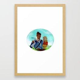 Sokka & Meelo Framed Art Print