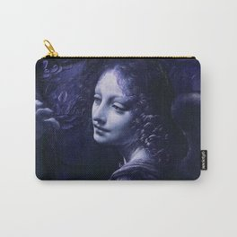 "Leonardo da Vinci Angel in ""The Virgin of the Rocks (London)"" (blue) Carry-All Pouch"