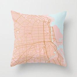 Buenos Aires map, Argentina Throw Pillow