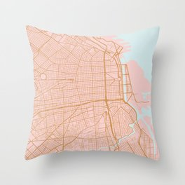Buenos Aires map, Argentina Throw Pillow