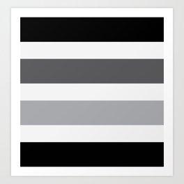 Black Grey Stripes Design Kunstdrucke