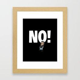 No! no.1 white Framed Art Print