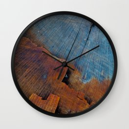 Colored Wood Wall Clock