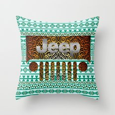 Aztec Jeep Pattern Throw Pillow