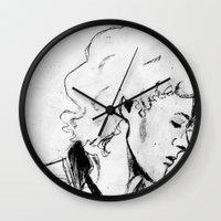 enjolras Wall Clocks featuring Enjolras by Pruoviare
