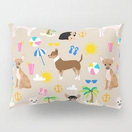 Chihuahua beach summer tropical cute chihuahuas dog gifts Pillow Sham