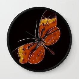 Untitled Butterfly 3 Wall Clock