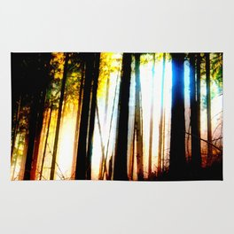 Abstract forest Rug
