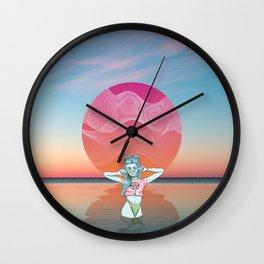 Sunset Over Vallarta Wall Clock