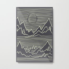 A Perfect Adventure - Outdoor Abstract Grey Metal Print