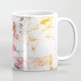 Blotchy Summer Paint Texture on White Coffee Mug
