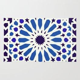 V19 Epic Light Blue Traditional Moroccan Pattern Design . Rug