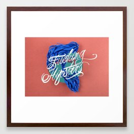 F****** Hipsters - 3D Typography Framed Art Print