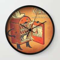 cocaine Wall Clocks featuring Cocaine Cola by TheNazzaro