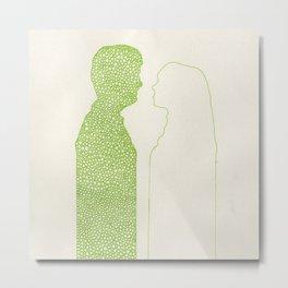 PEA GREEN LOVERS  Metal Print