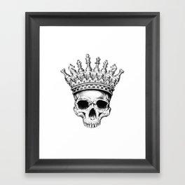 Heavy lies the crown Framed Art Print