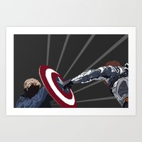 the winter soldier Art Prints featuring Winter Soldier by Kiss My Artse