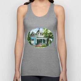 The House with Red Trim Unisex Tank Top