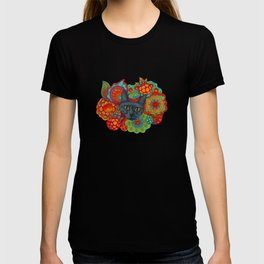 Strange Berry Psychedelic Cat T-shirt