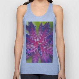 Spiky Purple Flower Unisex Tank Top