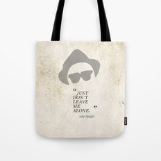Famous Last words: John Belushi Tote Bag
