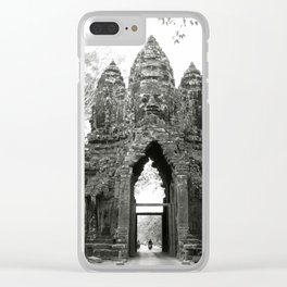 Mysterious buddhist khmer history in Cambodia Clear iPhone Case