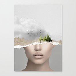 minimal collage /silence2 Canvas Print