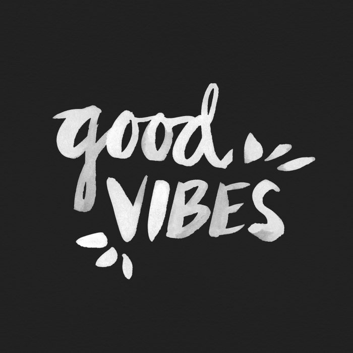 Good Vibes – White Ink Duvet Cover