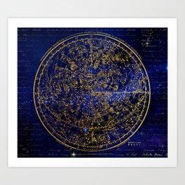 Zodiac Horoscope Celestial Art Print