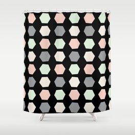 Wonky Pastel Honeycomb Shower Curtain