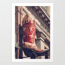 Broadway Boots - Nashville Art Print