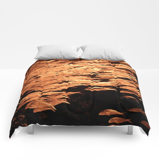 Golden fishes Comforters