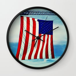 Flag and Ladder Wall Clock
