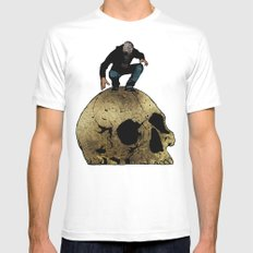 Leroy And The Giant's Giant Skull MEDIUM White Mens Fitted Tee