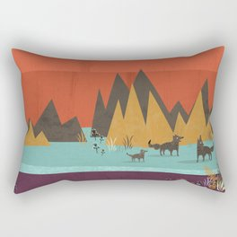 Wolves Rectangular Pillow