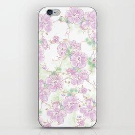 Watercolor Pansies iPhone Skin