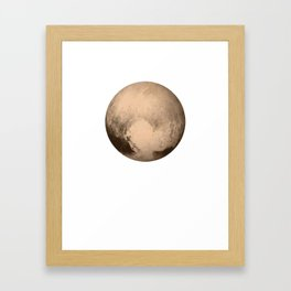 Pluto The Dwarf Planet In The Kuiper Belt Framed Art Print